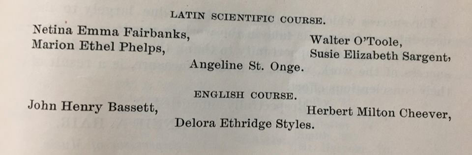 School Committee list from 1899