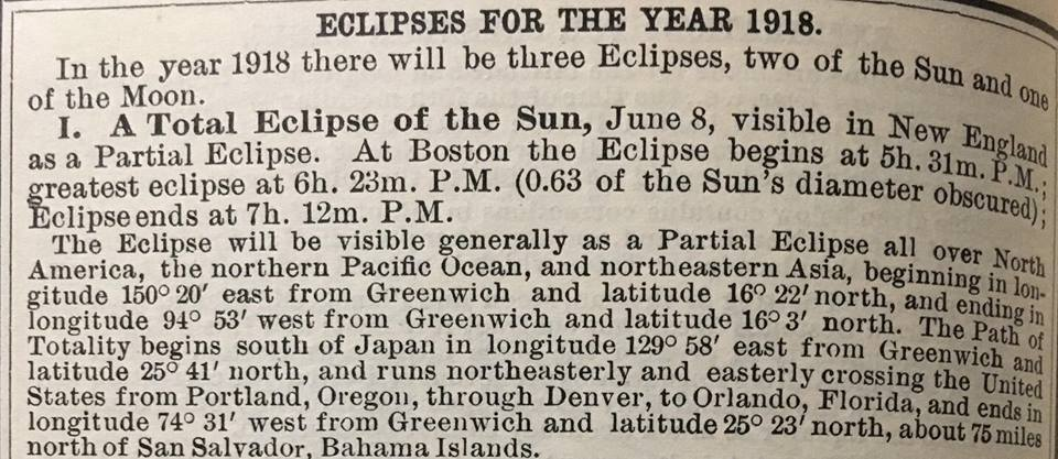 Newspaper clipping of the eclipse