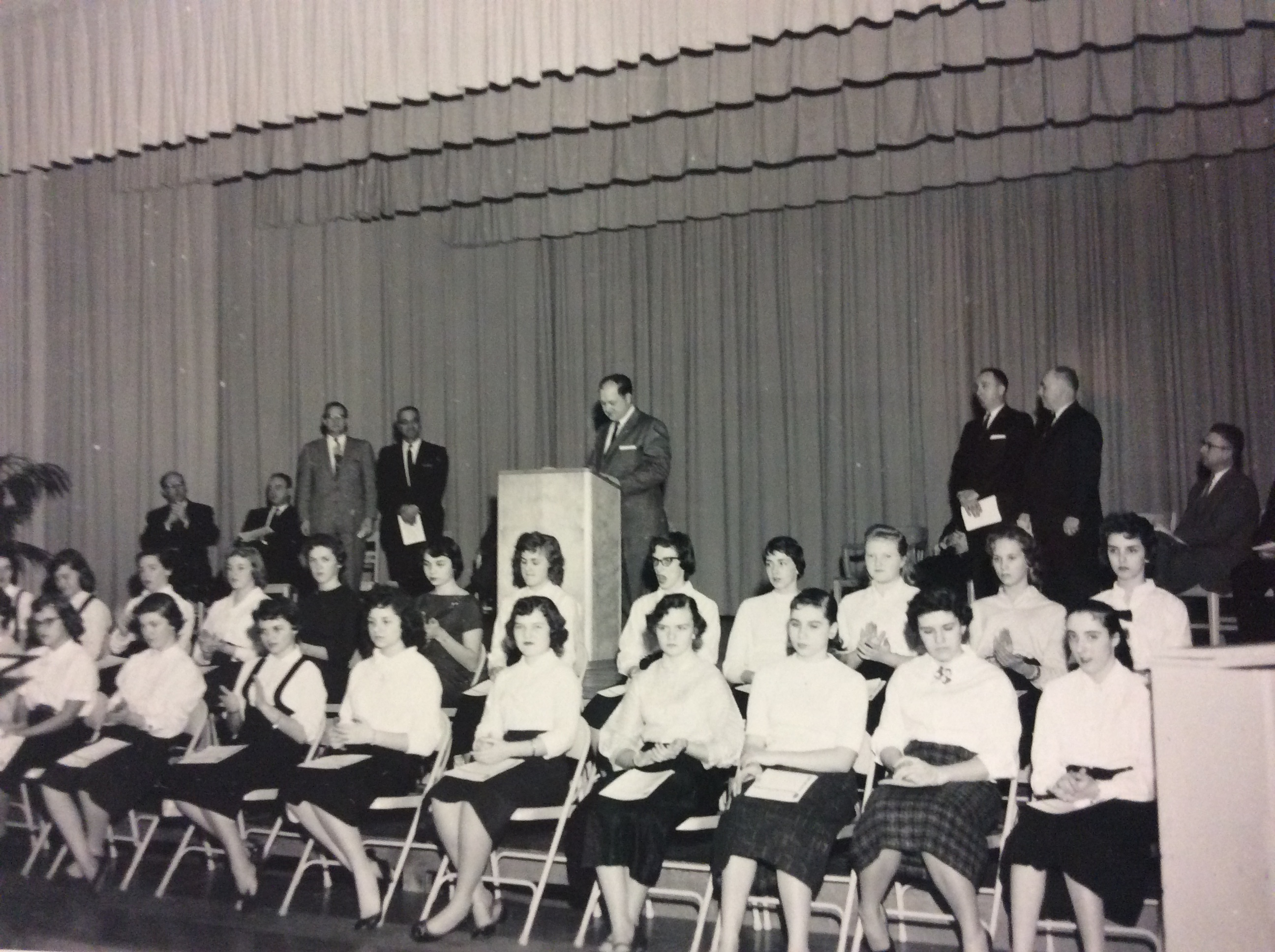 Photo of students from the dedication of the West Boylston High School