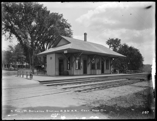 Image of West Boylston Station, Boston & Maine Railroad taken on July 11, 1896.