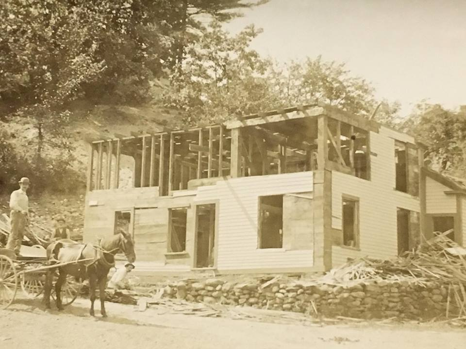 Image of house being deconstructed