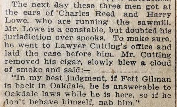 oakdale hauntings, article from newspaper photograph