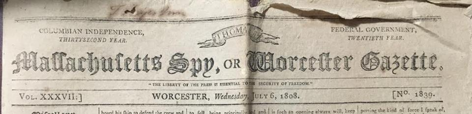 Image of a wartime newspaper masthead