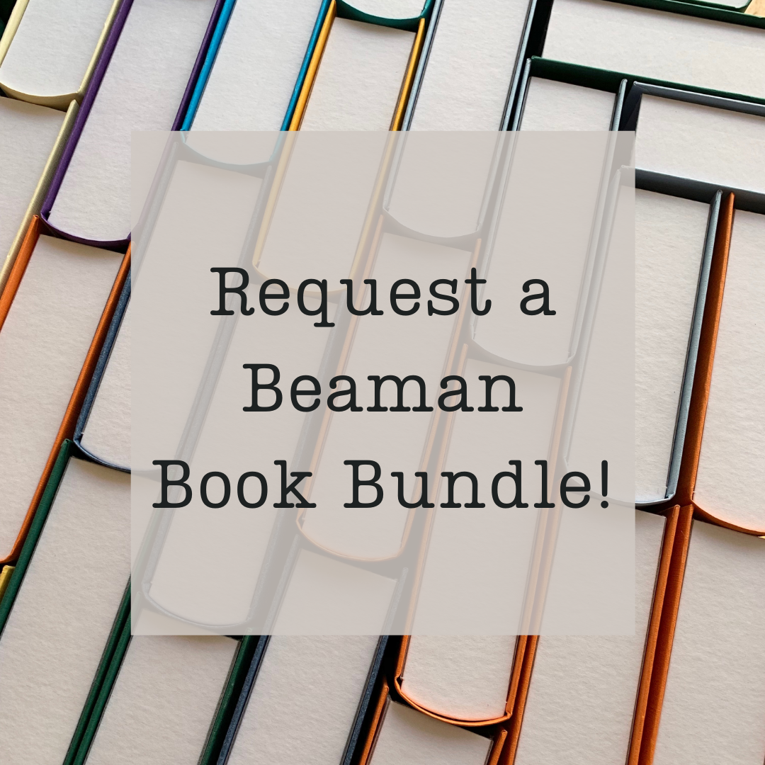 Request a Beaman Book Bundle with book ends in the background