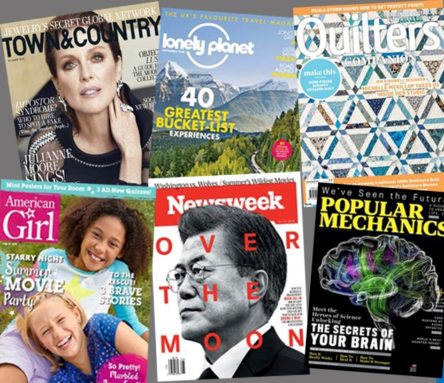 Image of magazines available through Overdrive