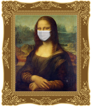 Image of Mona Lisa wearing a mask